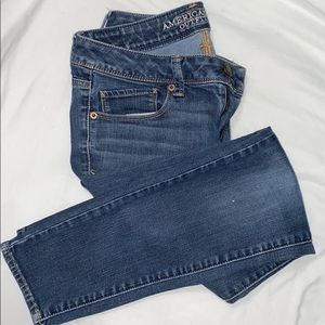 American Eagle Blue Super Skinny Regular Jeans